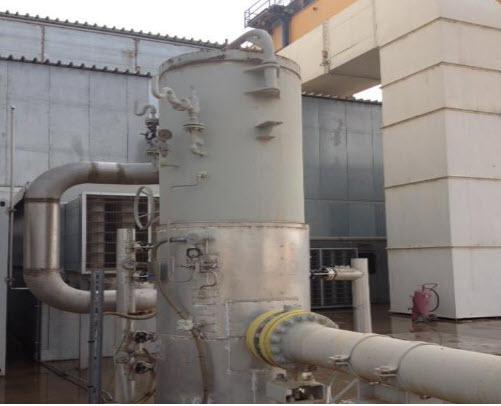 Supplying system for separating liquid gas from natural gas for Siemens V94.3A in Kirkuk Power Plant